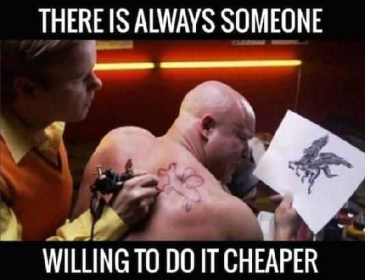 Il y a toujours quelqu'un pour le faire moins cher (principes vente réussie)