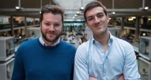 Flavien Hello et Matthieu Lecuyer, co-fondateurs de R-PUR, start-up venue pitcher sa solution dans qui veut être mon associé