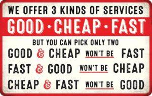 La perfection n'existe pas : présenter les défauts qui vont avec les qualités. c'est une vente honnête !